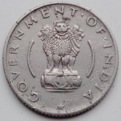 Coin > ¼rupee, 1954-1956 - India  - obverse