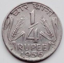 Coin > ¼rupee, 1954-1956 - India  - reverse