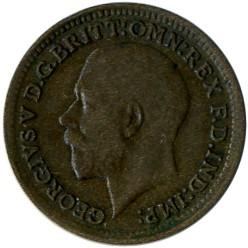Moeda > ⅓farthing, 1913 - Reino Unido  - obverse