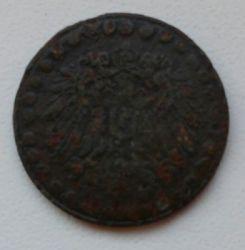 Кованица > 10фенинга, 1917 - Немачка  (Big dots, Zinc /non-magnetic/) - reverse