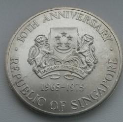 Moneta > 10dollari, 1975 - Singapore  (10° anniversario dell'indipendenza) - obverse