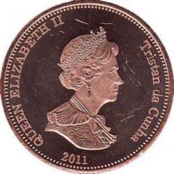 Moneta > 2pensy, 2011 - Tristan da Cunha  (Tuńczyk (Wyspa Nightingale)) - obverse