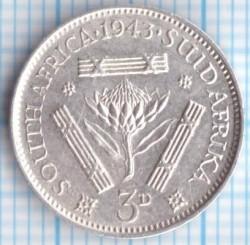 Moneta > 3pensy, 1937-1947 - Afryka Południowa  - reverse