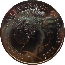 Münze > 5Pfund, 2004 - Guernsey  (60th Anniversary - D-Day) - obverse