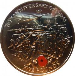Münze > 5Pfund, 2004 - Guernsey  (60th Anniversary - D-Day) - reverse