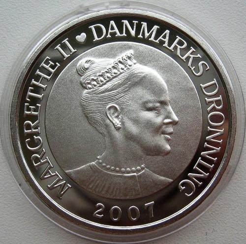 Coin 100 Kroner 2007 Denmark International Polar Year Bear