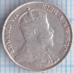 Монета > 10центов, 1902-1910 - Цейлон  - obverse
