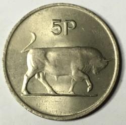 Moneta > 5pensów, 1969-1990 - Irlandia  - obverse