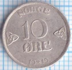 Moneda > 10ore, 1909-1919 - Noruega  - reverse