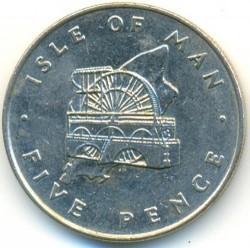 Монета > 5пенса, 1976-1979 - Остров Ман  - obverse