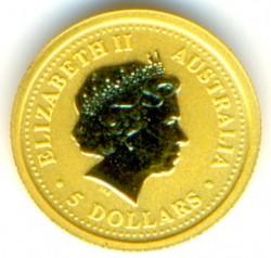 Moneta > 5dollari, 2002 - Australia  (Anno lunare - Anno del cavallo) - obverse