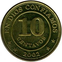 Монета > 10сентаво, 2002 - Нікарагуа  - obverse