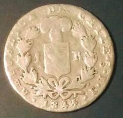 Moneta > 1real, 1843-1850 - Cile  - reverse