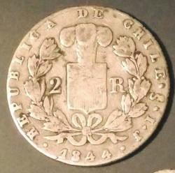 Νόμισμα > 2Ρεάλ, 1843-1852 - Χιλή  (Diameter 23mm) - reverse