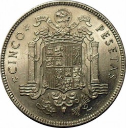Monedă > 5pesete, 1949 - Spania  - reverse