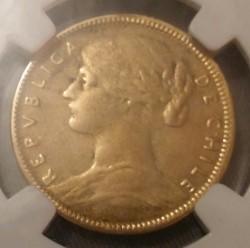 Coin > 20pesos, 1896-1917 - Chile  - obverse
