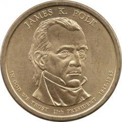 Coin > 1dollar, 2009 - USA  (President of the USA - James K. Polk (1845-1849)) - obverse