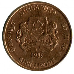 Moneta > 1 centesimo, 1986-1990 - Singapore  - obverse