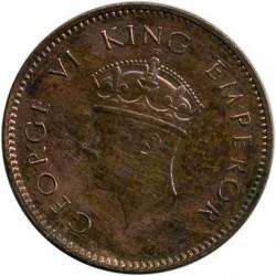 Moneta > ¼anna, 1938-1940 - India Britannica  - obverse