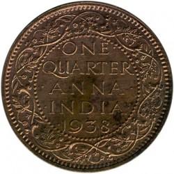 Moneta > ¼anna, 1938-1940 - India Britannica  - reverse