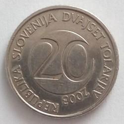 Moneda > 20tolarjev, 2003 - Eslovènia  - obverse