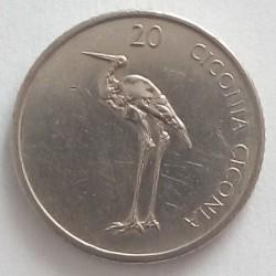 Moneda > 20tolarjev, 2003 - Eslovènia  - reverse