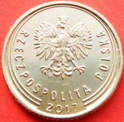 Moneta > 1grosz, 2017-2019 - Polska  - reverse