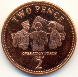 Moneda > 2peniques, 2012-2013 - Gibraltar  - obverse