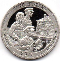 Coin > ¼ dollar, 2017 - USA  (Ellis Island, Statue of Liberty National Monument) - obverse