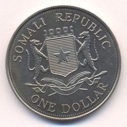 Moneta > 1dollaro, 2004 - Somalia  (XXVIII Giochi olimpici estivi, Atene 2004 - Tiro con l'arco) - obverse