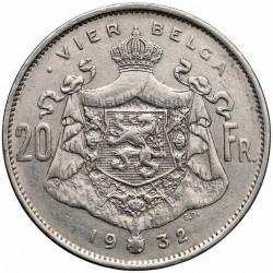 Münze > 20Franken, 1931-1932 - Belgien  (Legend in Dutch - 'ALBERT KONING DER BELGEN') - reverse