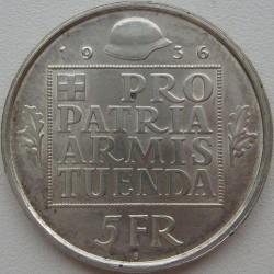 Moneta > 5franchi, 1936 - Svizzera  (Fondo per l'Armamento della Confederazione) - reverse