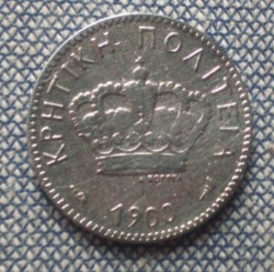 Moneta > 5lepta, 1900 - Creta  - reverse