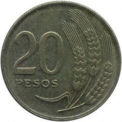 Monedă > 20peso, 1970 - Uruguay  - reverse