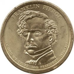 Coin > 1dollar, 2010 - USA  (President of the USA - Franklin Pierce (1853-1857)) - obverse