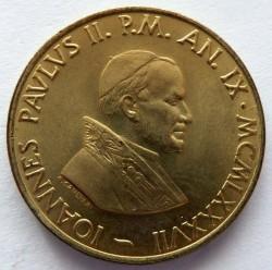 Mynt > 20lire, 1987 - Vatikanstaten  - obverse