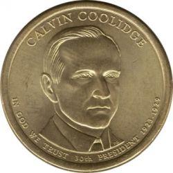Moneta > 1doleris, 2014 - JAV  (President of the USA - Calvin Coolidge (1923–1929)) - obverse