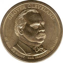 Moneta > 1doleris, 2012 - JAV  (President of the USA - Grover Cleveland (1893–1897)) - obverse