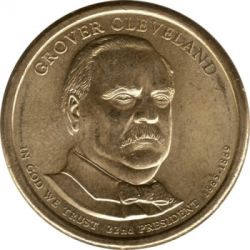 Münze > 1 Dollar, 2012 - USA  (President of the USA - Grover Cleveland (1885–1889)) - obverse