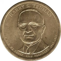 Münze > 1 Dollar, 2015 - USA  (President of the USA - Harry S. Truman (1945–1953)) - obverse