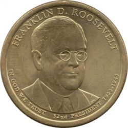 Münze > 1 Dollar, 2014 - USA  (President of the USA - Franklin D. Roosevelt (1933–1945)) - obverse