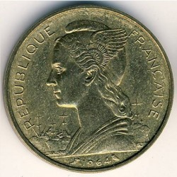 Монета > 20франков, 1964 - Коморские острова  - obverse