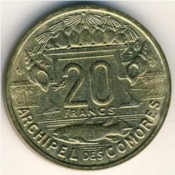 Монета > 20франков, 1964 - Коморские острова  - reverse