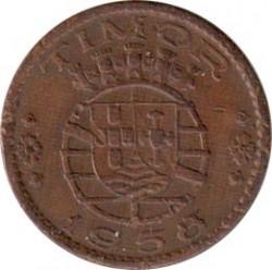 Monēta > 30sentavo, 1958 - Portugāļu Austrumtimora  - obverse
