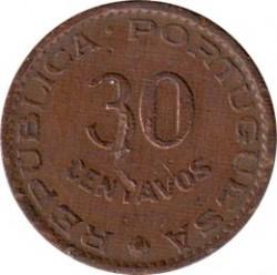 Monēta > 30sentavo, 1958 - Portugāļu Austrumtimora  - reverse