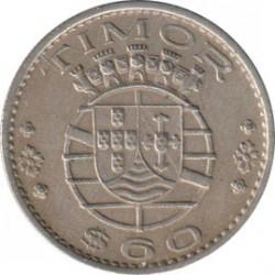 Monēta > 60sentavo, 1958 - Portugāļu Austrumtimora  - obverse