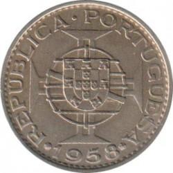 Monēta > 60sentavo, 1958 - Portugāļu Austrumtimora  - reverse