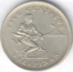 Νόμισμα > 5Σεντάβος, 1903-1928 - Φιλιππίνες  - obverse