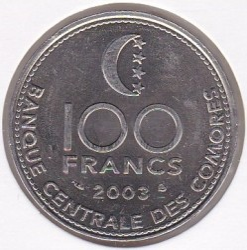 Монета > 100франка, 2003 - Коморски острови  - obverse