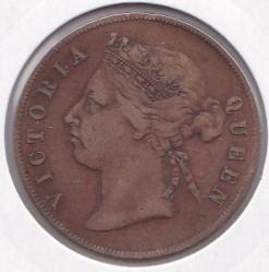 Moneta > 1centesimo, 1884-1886 - Insediamenti dello Stretto  - obverse